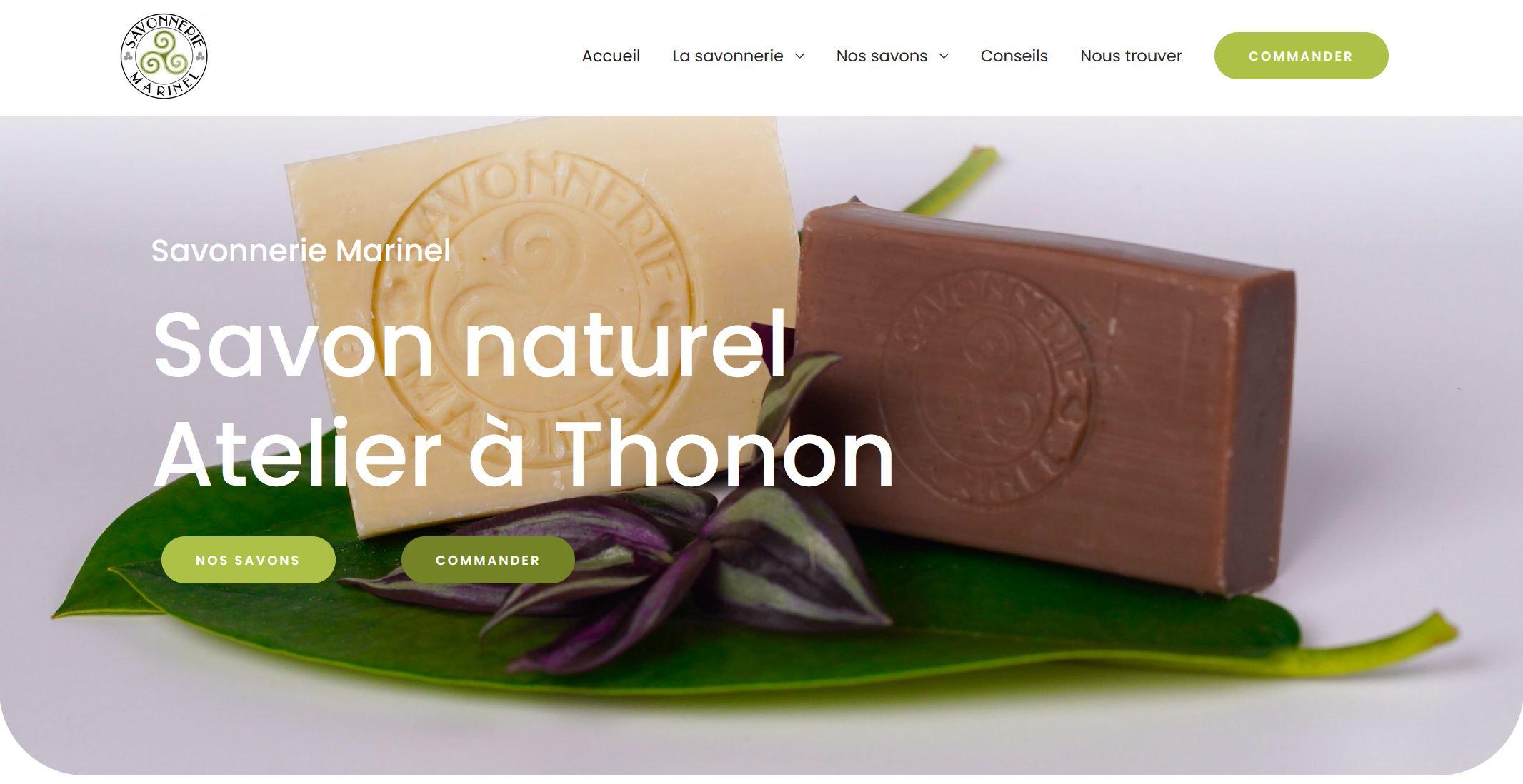 Création site internet Savonnerie Marinel