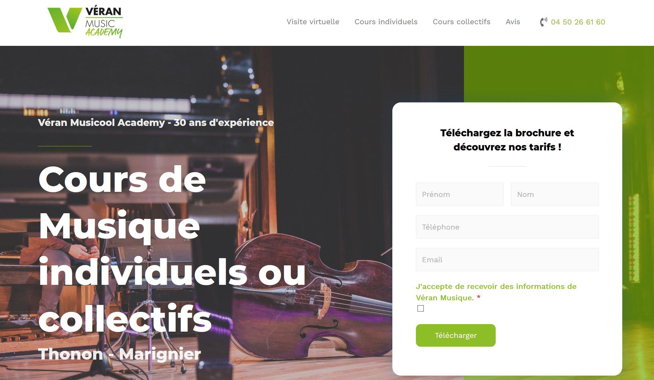 Création site internet Thonon - Véran Musique
