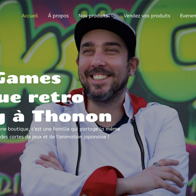 Création site internet vitrine Rétro Gaming